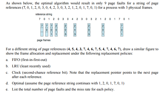 Solved: As Shown Below, The Optimal Algorithm Would Result ...