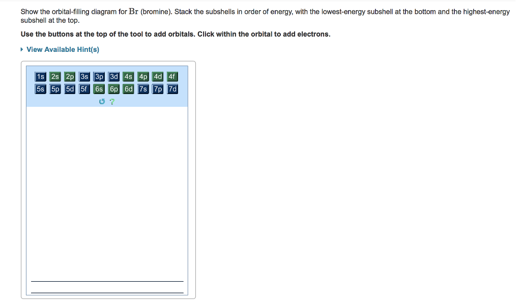 Solved: Show The Orbital-filling Diagram For Br (bromine ...