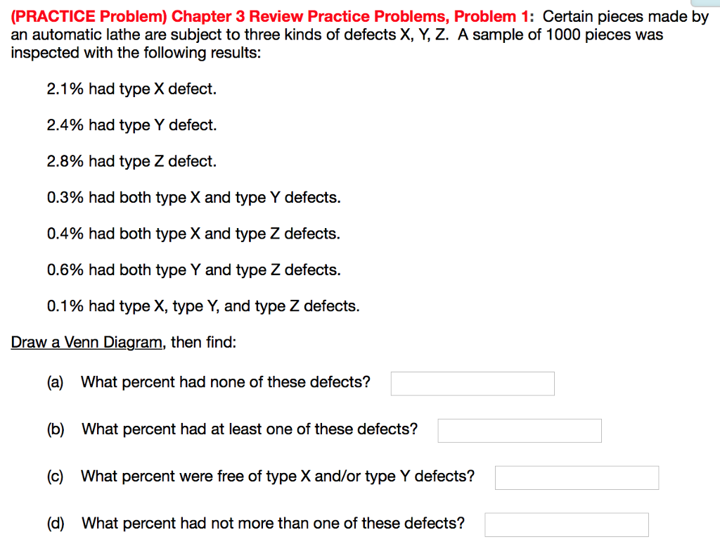 Solved: (PRACTICE Problem) Chapter 3 Review Practice Probl ...