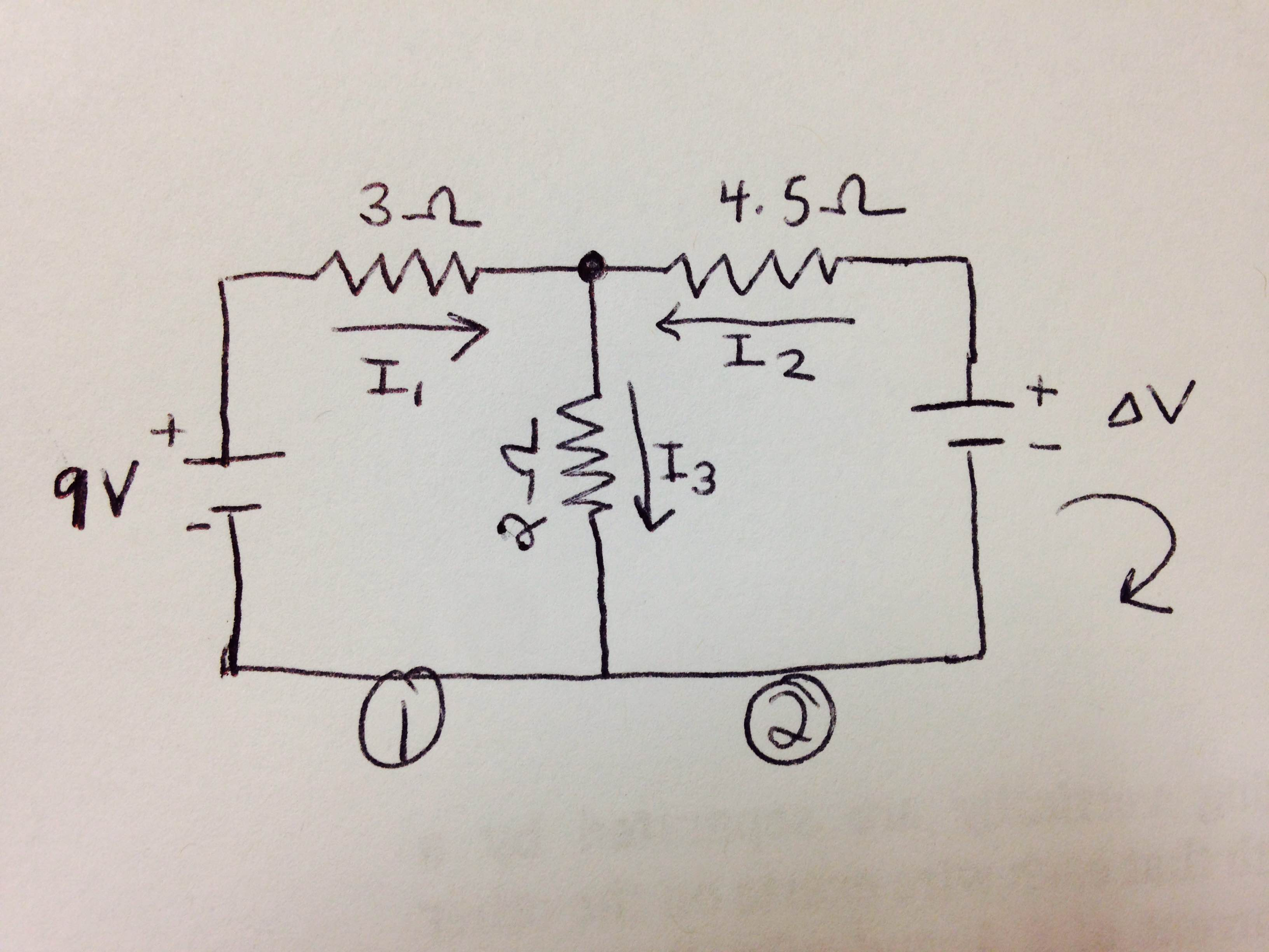 Solved The Figure Shows An Electric Circuit That Includes Pictures Question Two Batteries And Three Resistors Current