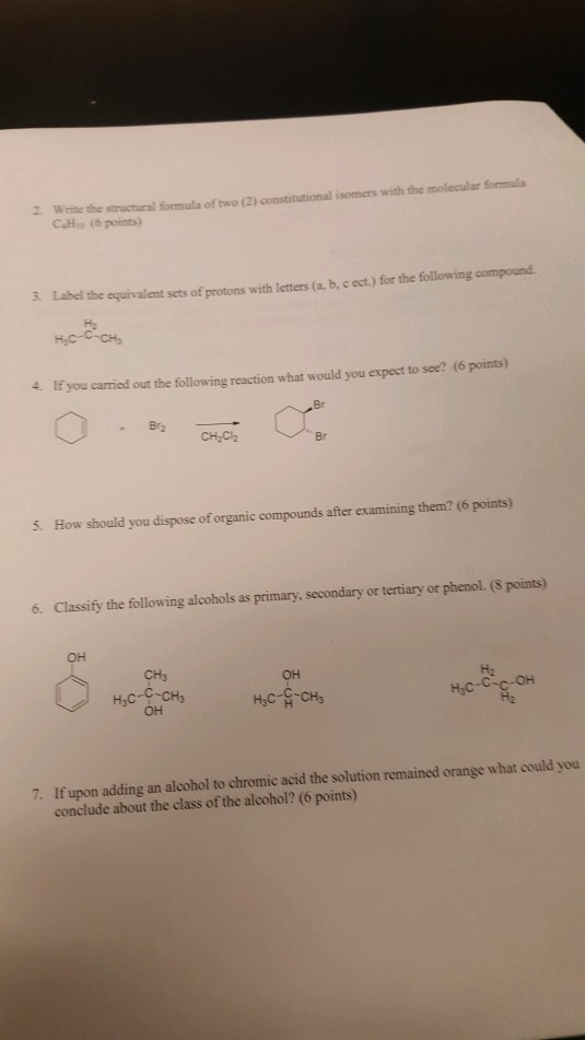 isomers with the molecular formula 2 Wnite
