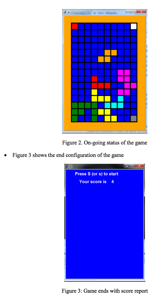 Solved: TETRIS PYTHON PROGRAM USING TKINTER, IT WOULD BE B