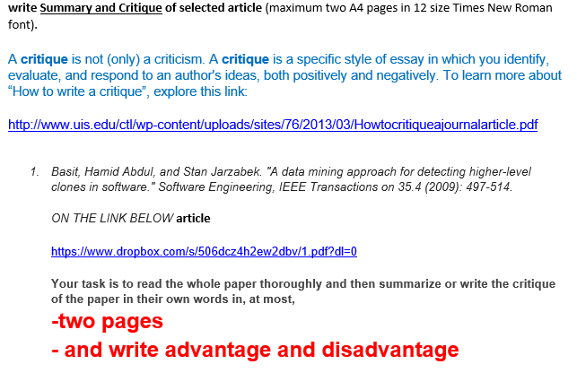 how to write a critique of an essay A thesis statement for such a critique should encompass your general response to the main arguments in the original how to write a summary & review essay on an.