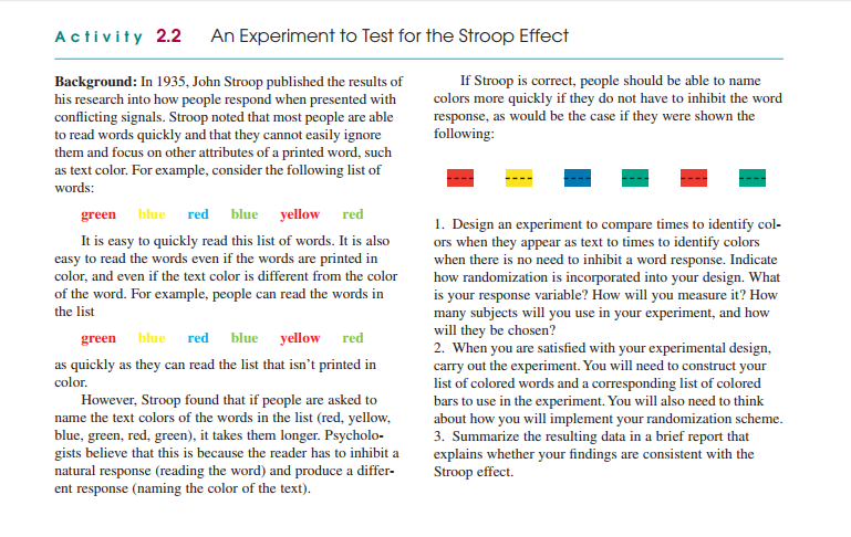 experimenting with a variant of the stroop effect These results were consistent with that of the stroop task which  task  condition 3 (stop-signal) was a variant of the stop-signal task (sst)  were  given practice trials at the beginning of the experiment and sufficient time.