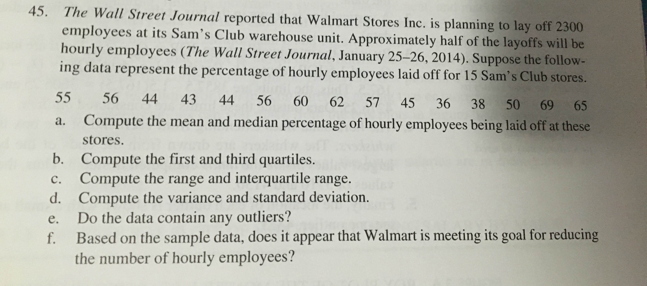 Solved the wall street journal reported that walmart stor question the wall street journal reported that walmart stores inc is planning to lay off 2300 employees a fandeluxe Gallery