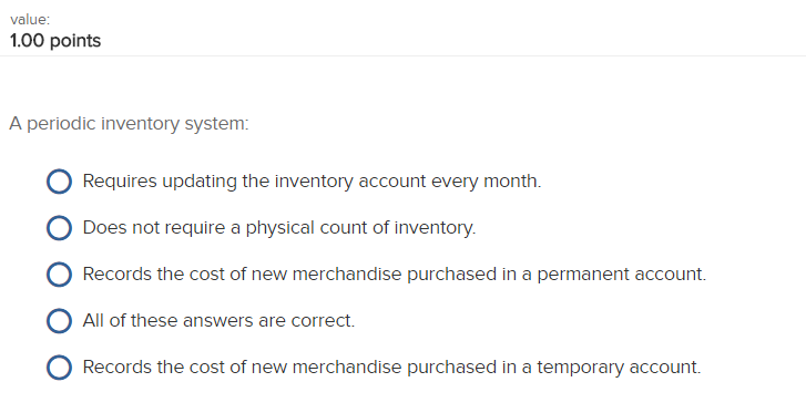 solved a periodic inventory system requires updating the