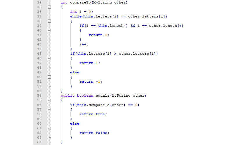 Solved: JAVA: You Will Write Your Own Version Of The Strin ...