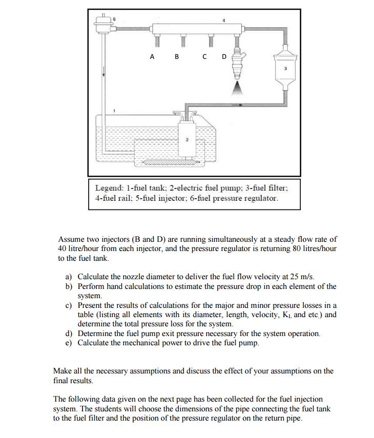 a b cd legend: 1-fuel tank: 2-electric fuel pump: 3