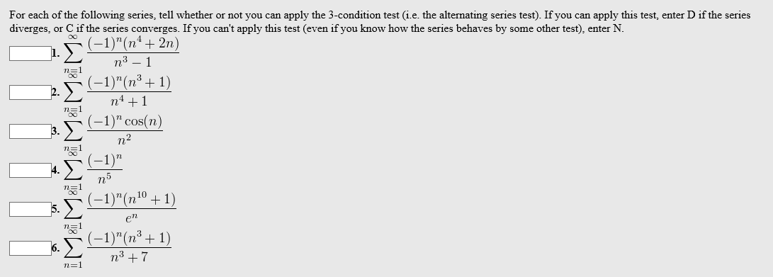 f461acd313b Solved  For Each Of The Following Series