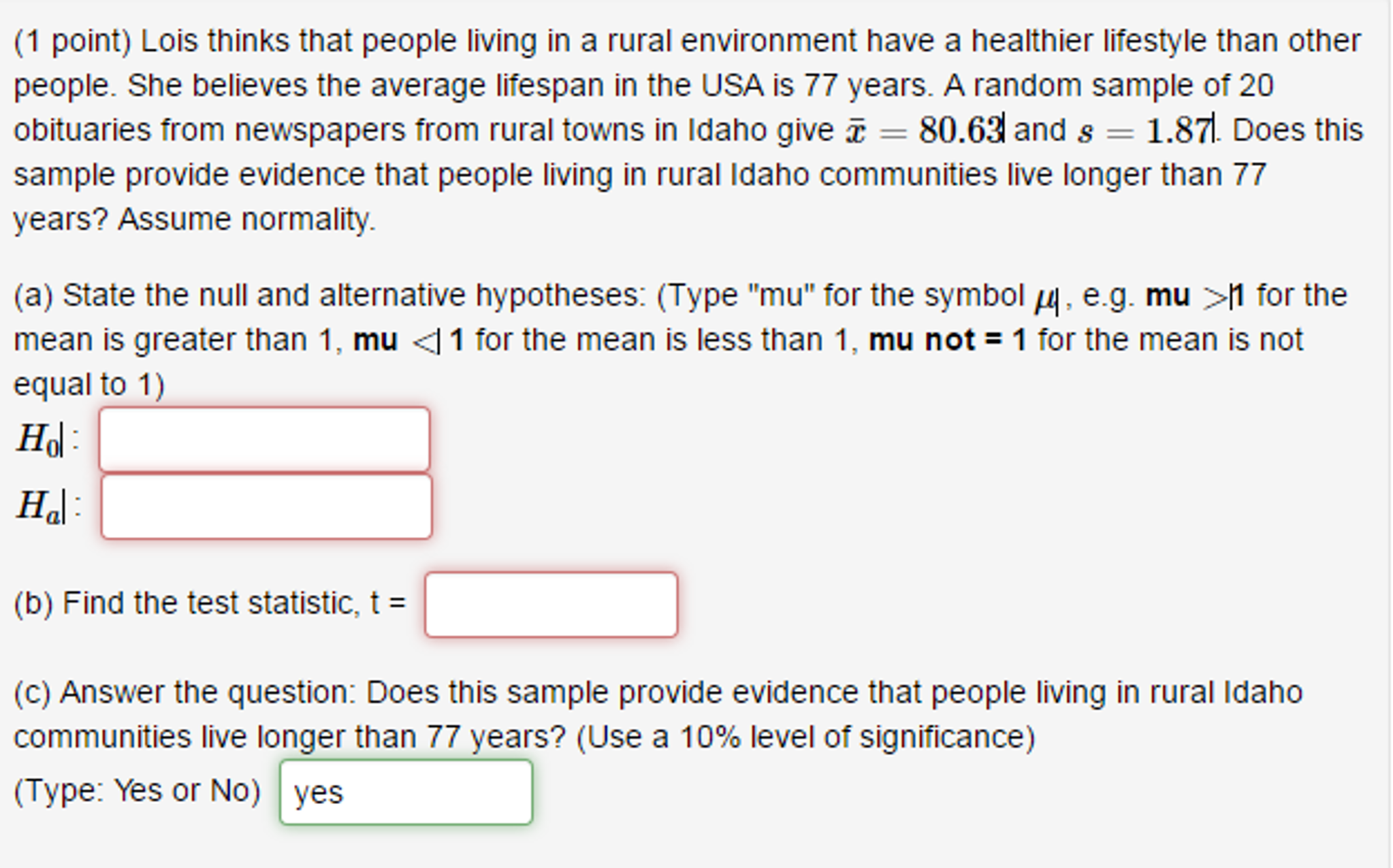 Solved Lois Thinks That People Living In A Rural Environm