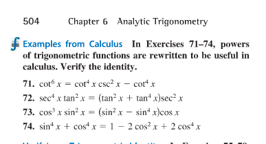 Solved 504 Chapter 6 Analytic Trigonometry Examples From