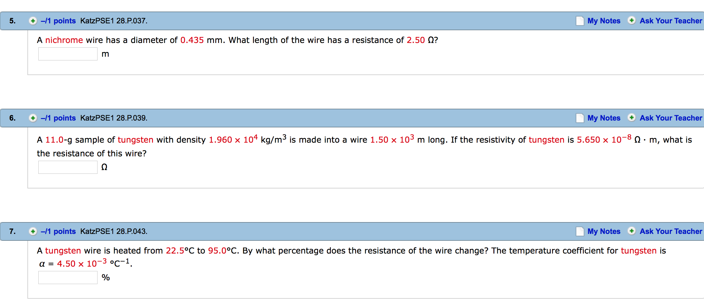 Solved: A Nichrome Wire Has A Diameter Of 0.435 Mm. What L ...