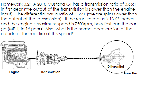 Solved: Homework 3 2: A 2018 Mustang GT Has A Transmission