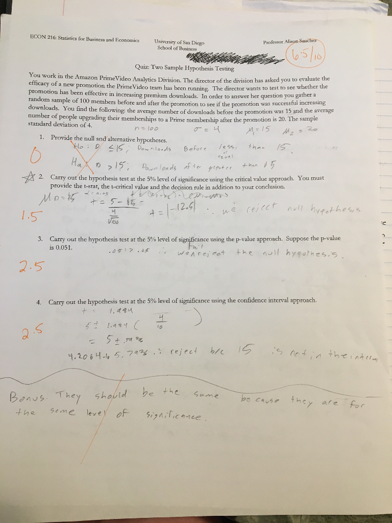 Solved: ECON 216: Statistics For Business And Economics Un
