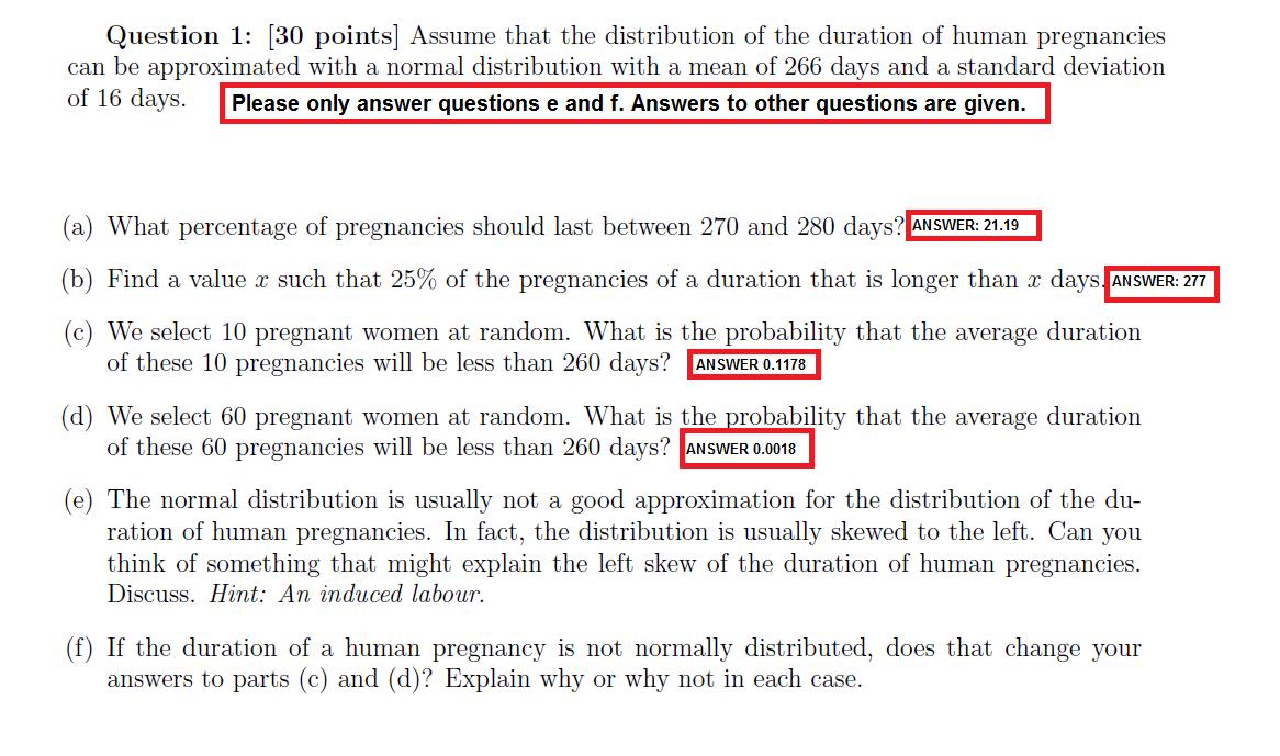 Solved: What Percentage Of Pregnancies Should Last Between