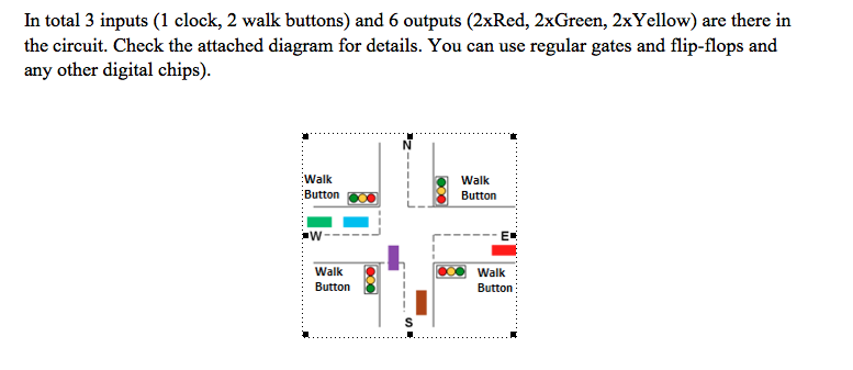 You Are Required To Design A 4-way Traffic Light C... | Chegg.com  Way Traffic Light Wiring Diagram on 2 way light wiring diagram, 4 way lighting diagram, 6 way light wiring diagram, 4 way light wiring scheme, 4 way electrical diagram, 3 way light wiring diagram, 4 way light switch diagram, 7 way light wiring diagram,