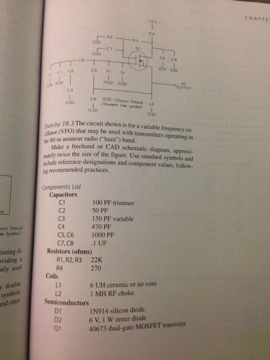 Solved: The Circuit Shown Is For A Variable Frequency Os-c ... on