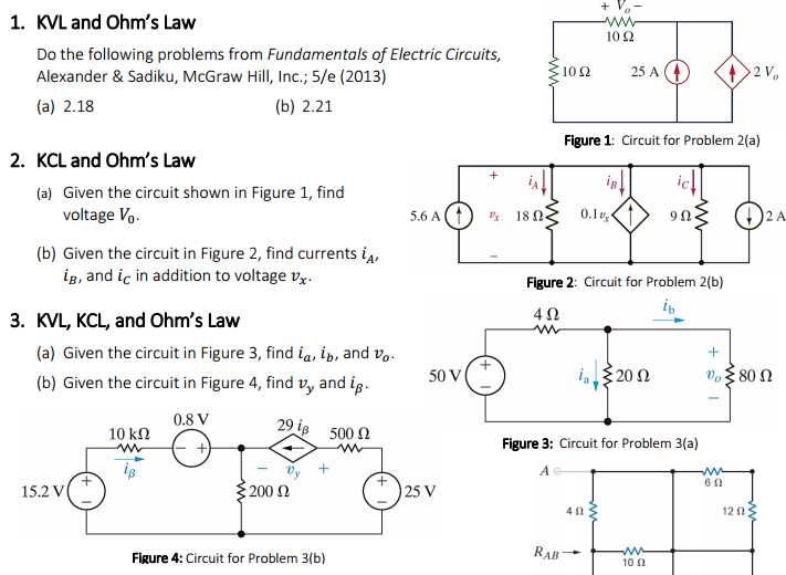Kvl Ohm S Law Following Problems Fundamentals Electric Circuits Alexander Sadiku Mcgraw Hi Q5785357 on Addition Homework