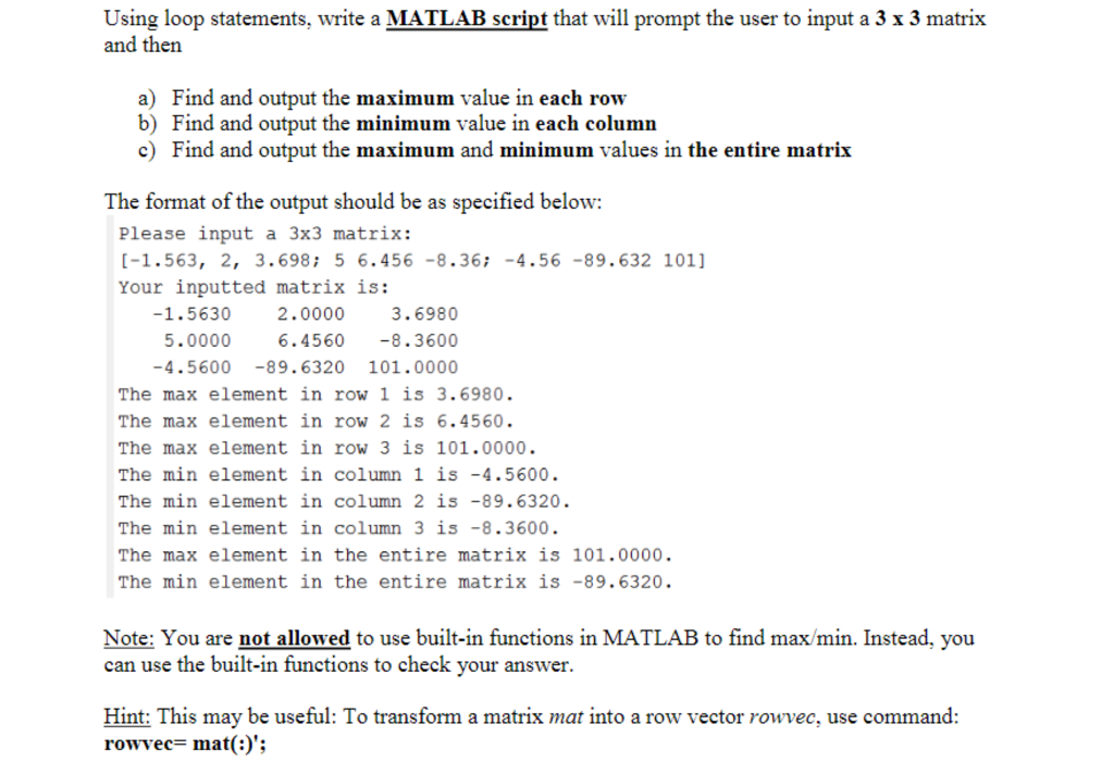Solved: Using Loop Statements, Write A MATLAB Script That