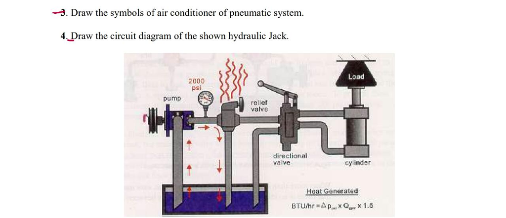 Solved 3 Draw The Symbols Of Air Conditioner Of Pneumat