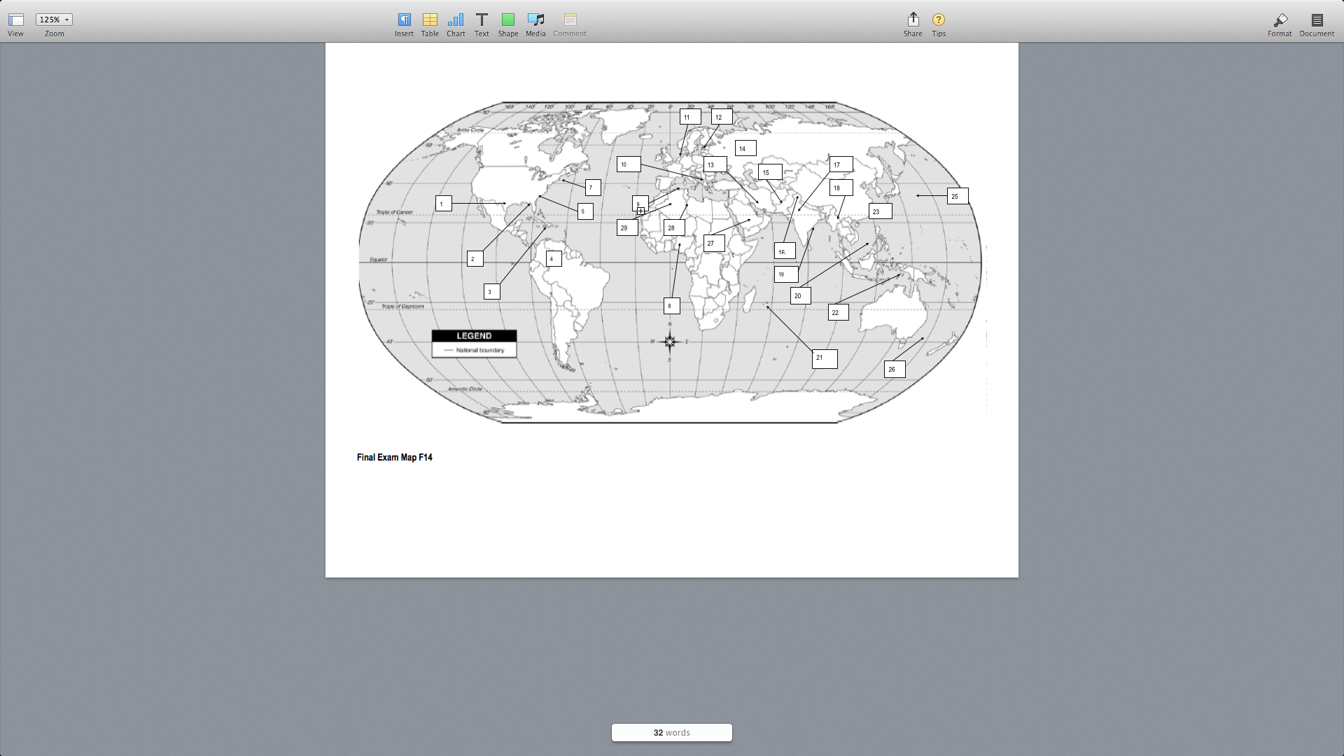 Solved use the map provided to answer the following quest 125 view oom insert table chart text shape media comment share tips format document 140 use the map provided to answer the following questions gumiabroncs Images