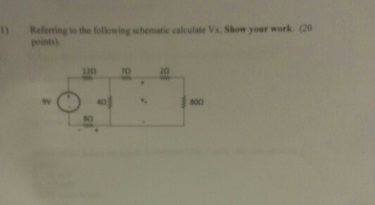 Referring to the following schematic calculate v_x