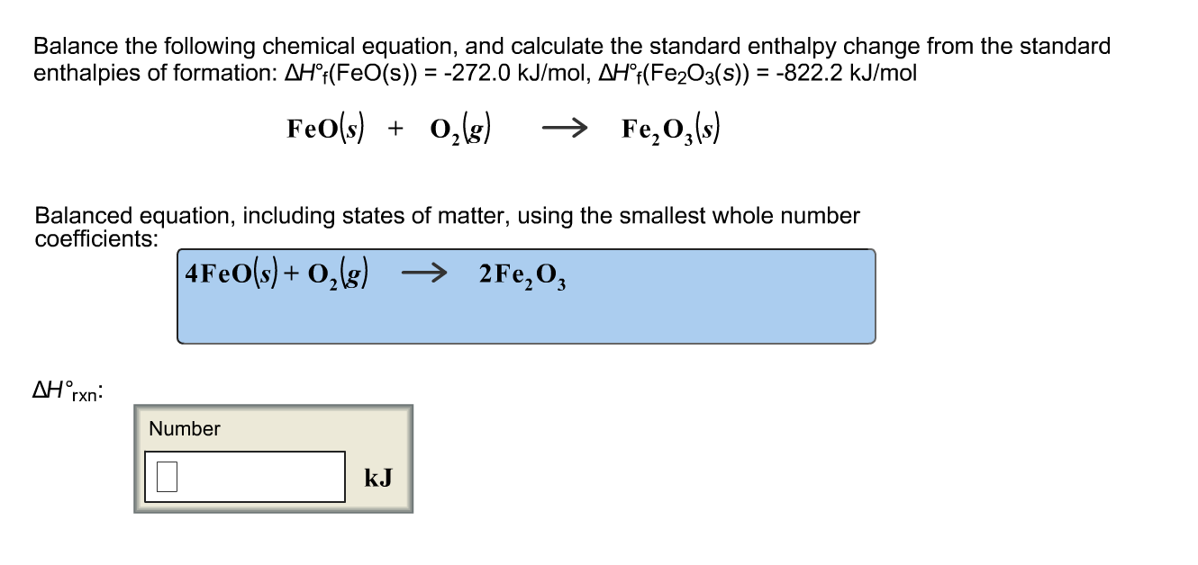 Solved: Balance The Following Chemical Equation, And Calcu ...