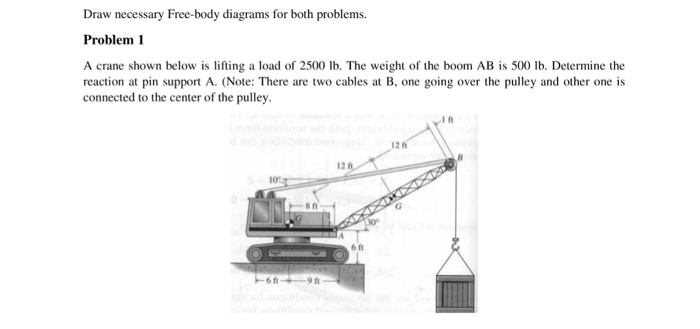 draw necessary free-body diagrams for both problem