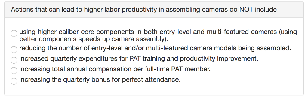Solved: Actions That Can Lead To Higher Labor Productivity ...