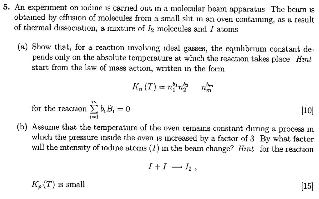 beam reaction apparatus experiment