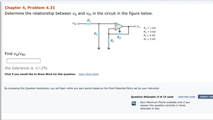 Solved chapter 4 problem 431 determine the relationship chapter 4 problem 431 determine the relationship between vo and vin in the circuit in publicscrutiny Gallery