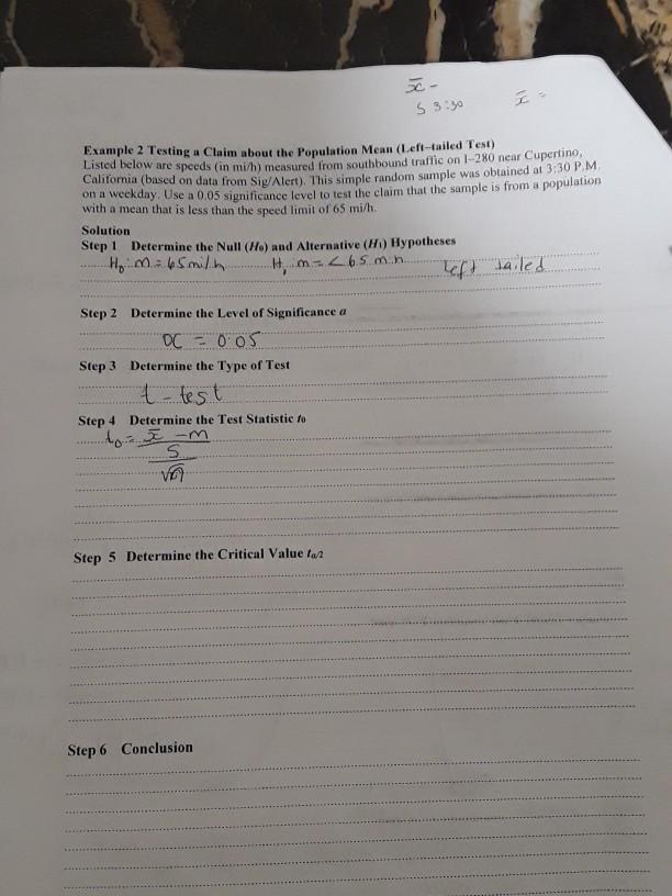 S 3yo Example 2 Testing a Claim