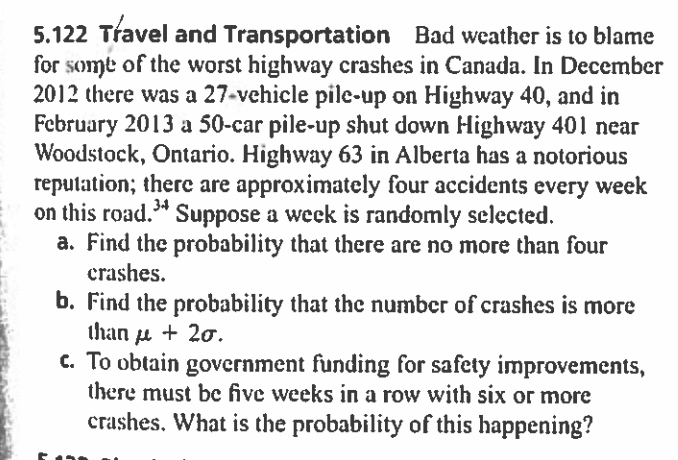 Solved: Travel And Transportation Bad Weather Is To Blame