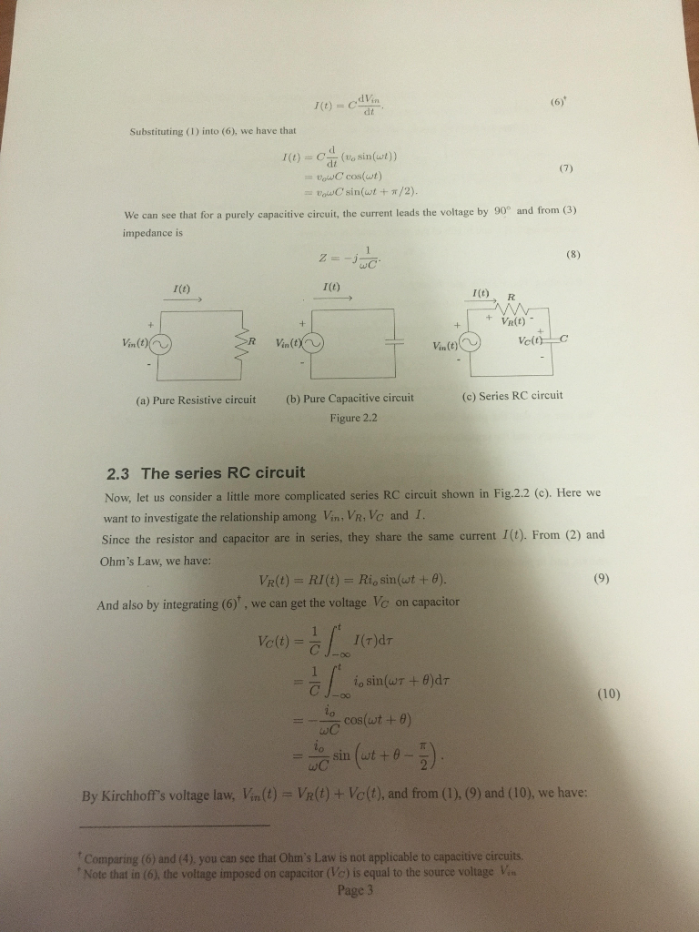 Solved 2 Pre Lab Consider The Circuit Shown In Fig21 T Following Series Resistive Please Answer Section 24
