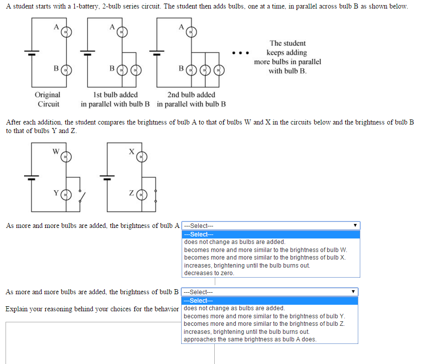 solved a student starts with a 1 battery 2 bulb series c rh chegg com