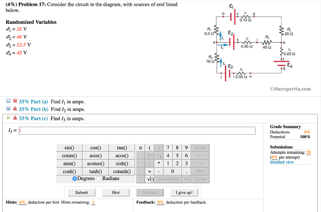 Solved Consider The Circuit In The Diagram With Sources