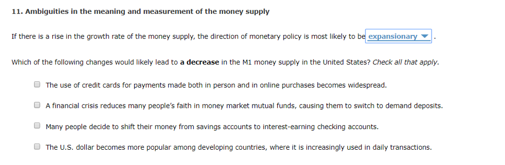 supply of money meaning