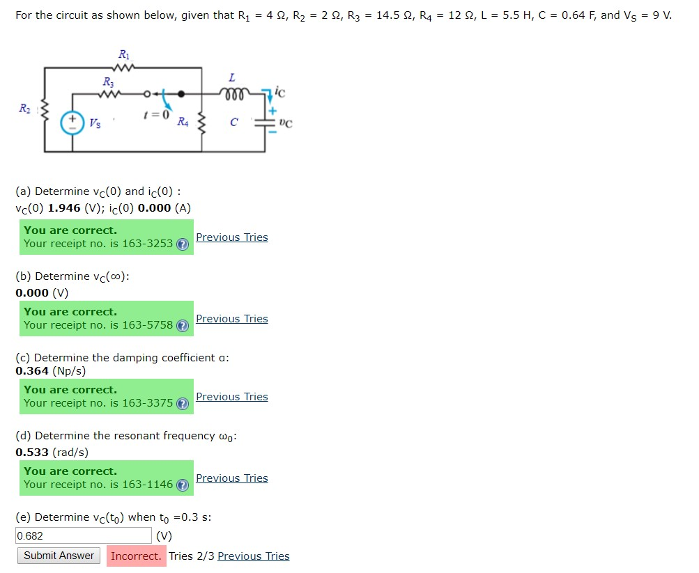 Solved: For The Circuit As Shown Below, Given That R1-4 Ω