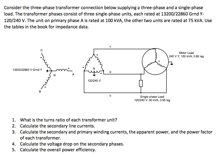 consider the three-phase transformer connection be