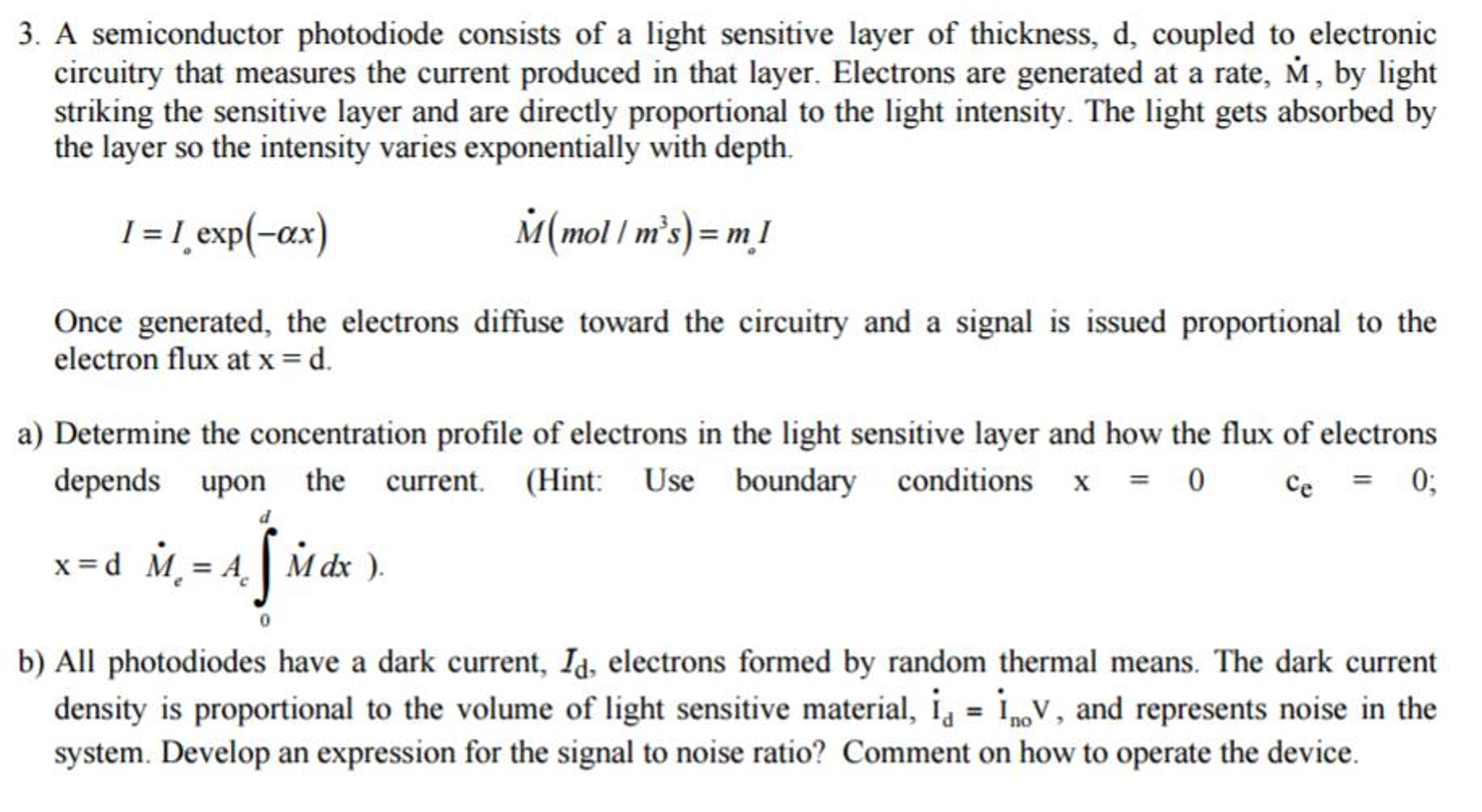 Solved 3 A Semiconductor Photodiode Consists Of Light Electronic Circuits Explained