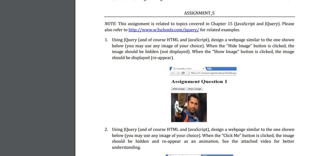 Solved: ASSIGNMENT 5 NOTE: This Assignment Is Related To T