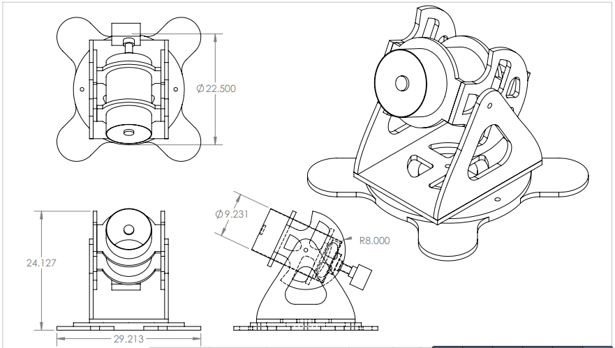 Recreate The Telescope Mount From The Given Parts