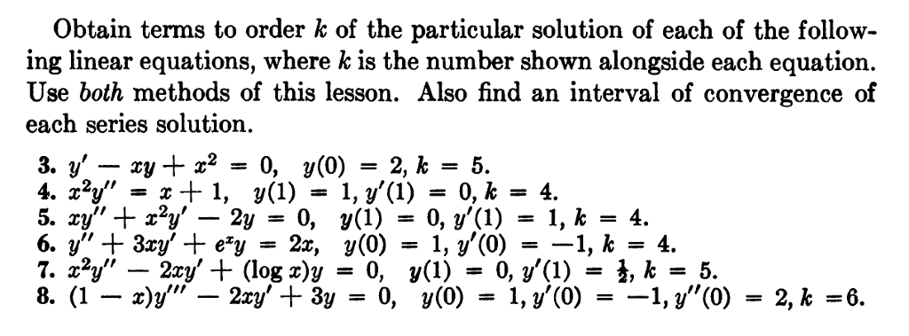solved only do 8 please show all work from ordinary di rh chegg com ordinary differential equations morris tenenbaum solution manual Ordinary Differential Equations Textbook