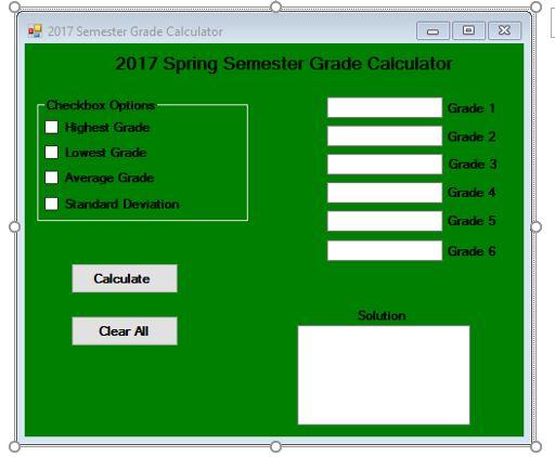 Solved: CPT 341 VB NET Project 1 – Grade Calculator VB Top