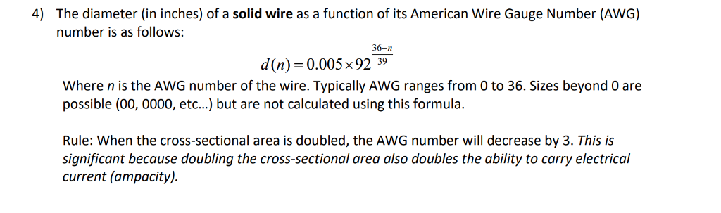 Solved 4 the diameter in inches of a solid wire as a f 4 the diameter in inches of a solid wire as a function of greentooth Images