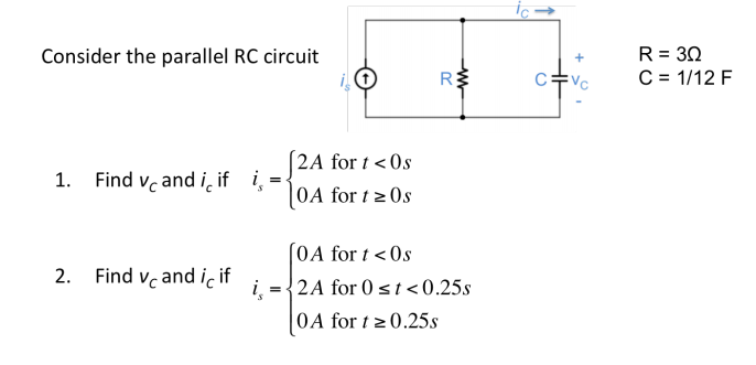 solved consider the parallel rc circuit r 3 ohm c 1 1 rh chegg com