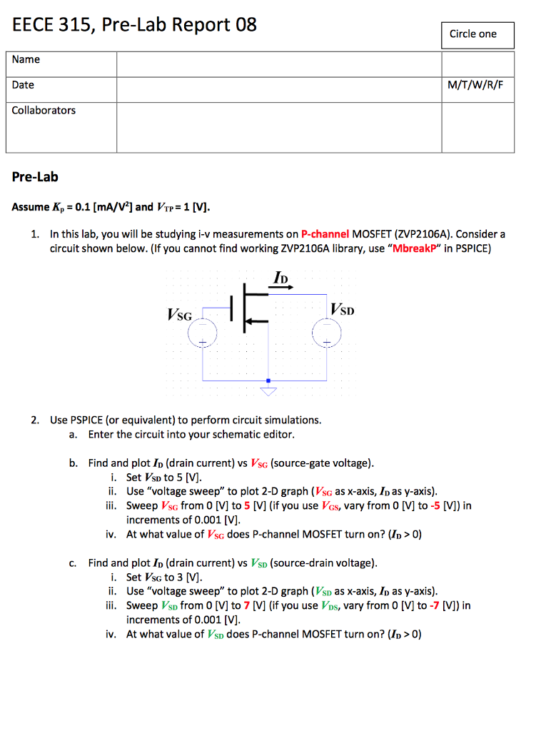 Circuit Diagram M In A Circle Wiring Library The Complete Of Is Shown Below See More Show Transcribed Image Text Eece 315 Pre Lab Report 08 One
