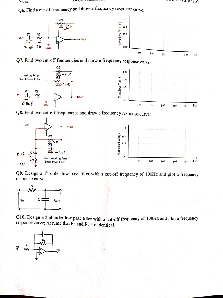 Solved Practice Problems Basic Circuit Remark Do Not Us Low Pass Filter Diagram Basiccircuit See More Show Transcribed Image Text Use Computer Software A Calculator Only And Your Calculation