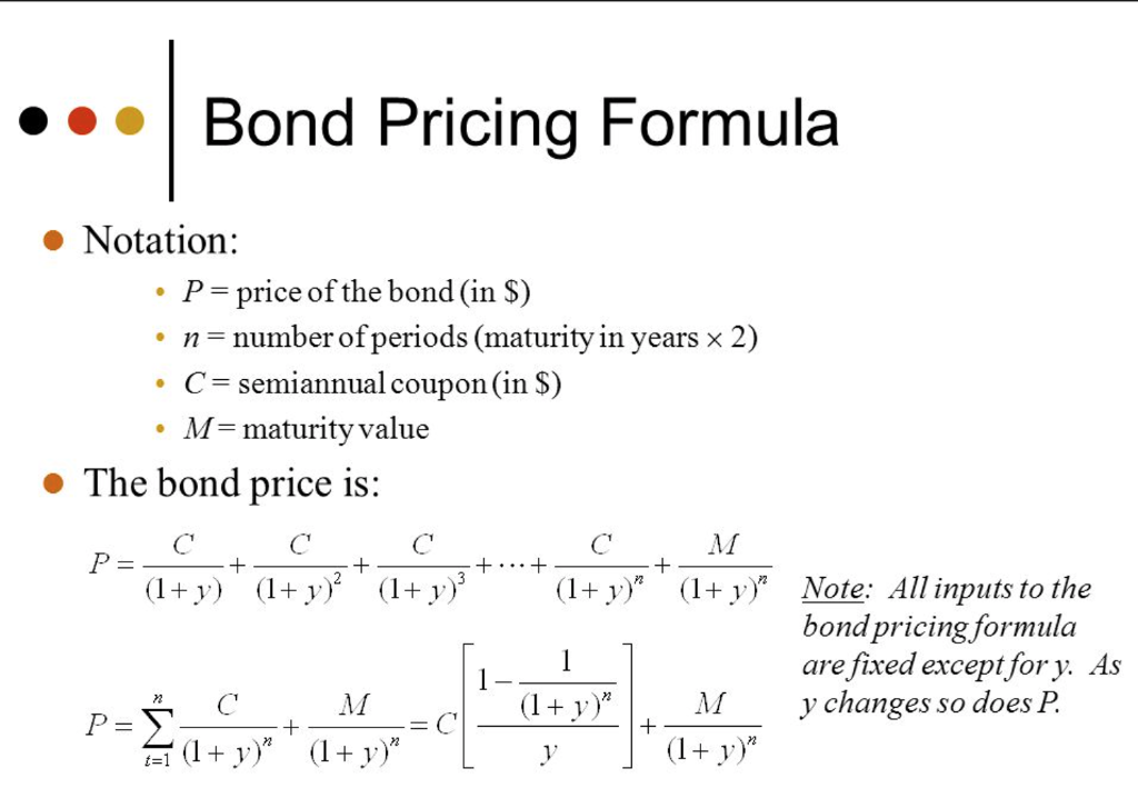 how to calculate the value of a bond