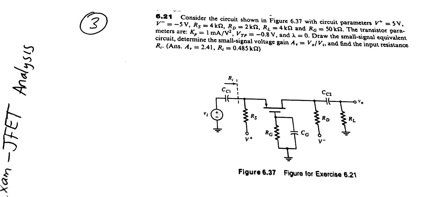 Solved Design Example Q Point Is In Th Such That The Xamp Mosfet Circuit Examples Solve It With Good Explanation Please